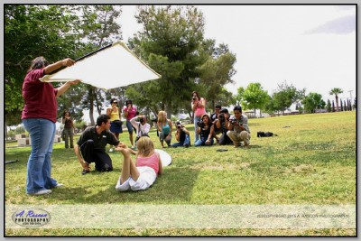 Primera Clase de Fotografia en Tucson, con Hector, Efrain, Cayupe (Eclipsi), Lupita