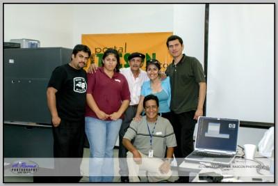 Mis alumnos Hector Canelo y Efrain Montaño y Marcos Palomares en Tucson