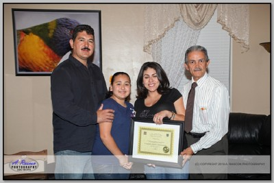 Graduacion con Cecilia en Tucson