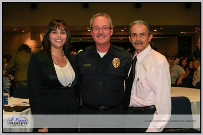 Gladis Pinto (Federacion Veracruzana) y Jefe de la Policia de Santa Ana, CA
