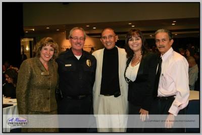 Gladis Pinto (Federacion Veracruzana) , Jefe de la Policia de Santa Ana, CA,  Cecilia, Sergio Velazquez (Miniondas News)